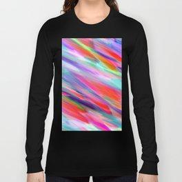 Colorful digital art splashing G399 Long Sleeve T-shirt