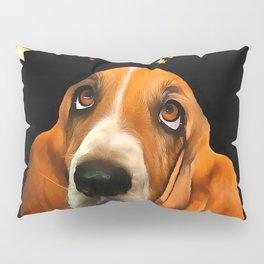 A Basset Hound. (Painting.) Pillow Sham