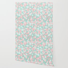 Ab Out Mint and Blush Wallpaper