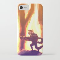 rocket raccoon iPhone & iPod Cases featuring Rocket Raccoon by Mimi JJ