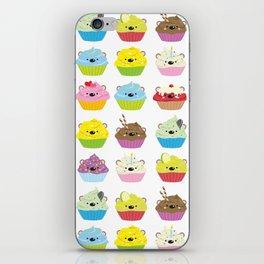 Cupcake Bears iPhone Skin