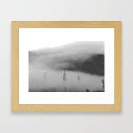 Fog over industrial city Framed Art Print