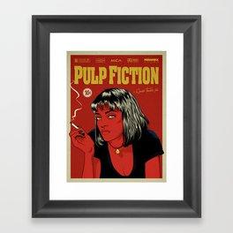 P. F. Framed Art Print