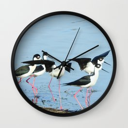 Hanging With Friends Wall Clock