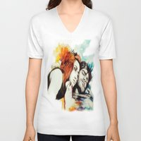 eternal sunshine of the spotless mind V-neck T-shirts featuring Eternal Sunshine by Alycia Plank