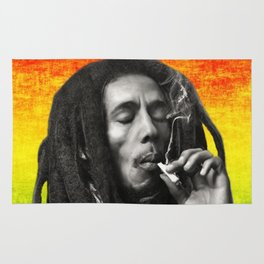 marley bob general portrait painting | Up In Smoke Fan Art Rug
