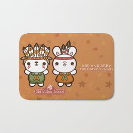 Abe and Abby the Rioters Bunnies Bath Mat