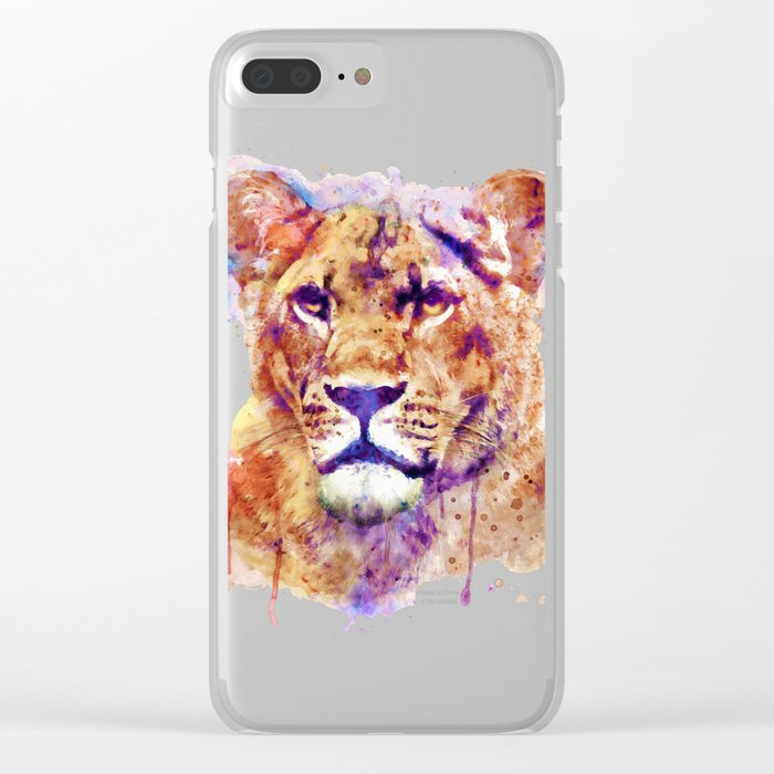 Lioness Head Clear iPhone Case