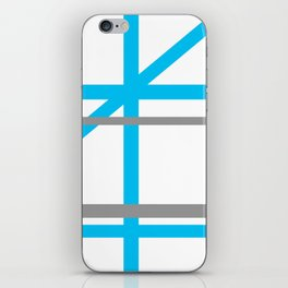 Blue & Gray lines iPhone Skin