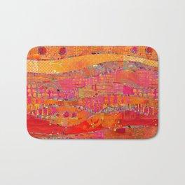 Firewalk Abstract Art Collage Bath Mat