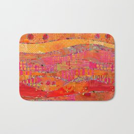 Firewalk Abstract Art Collage Bath Mat