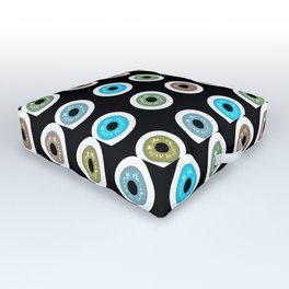 googly eyes pattern Outdoor Floor Cushion