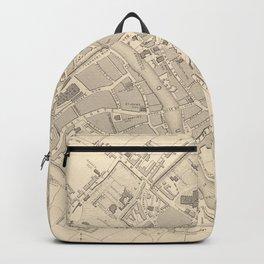 Vintage Map of York England (1851) Backpack