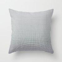 grid Throw Pillows featuring Grid by Kaamil Ajmeri