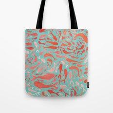 Koi - Coral & Turquoise Tote Bag