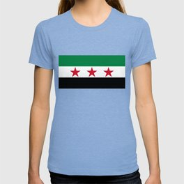 Independence Flag of Syrian, High quality T-shirt