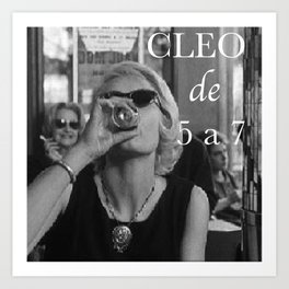 Cleo from 5 to 7 Art Print