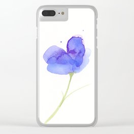 Lavender Daydream Clear iPhone Case