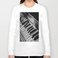 piano Long Sleeve T-shirts featuring Piano by Renny Hendra