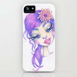 JennyMannoArt Colored Pencil Illustration/Sarah iPhone Case