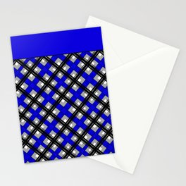 Combo black blue plaid Stationery Cards