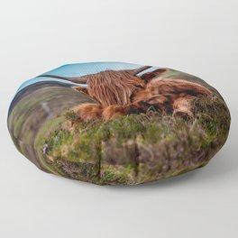 Scottish Highland longhorns Rancher Floor Pillow
