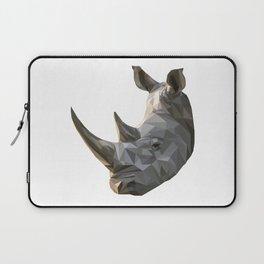 Low poly Rhinocerous Laptop Sleeve