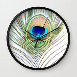 Eye of the Peacock Wall Clock
