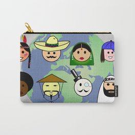 People worldwide anti racism pro diversity Carry-All Pouch