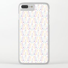 Tea Spoons Vector Cutlery Pattern Pastel Colors Clear iPhone Case