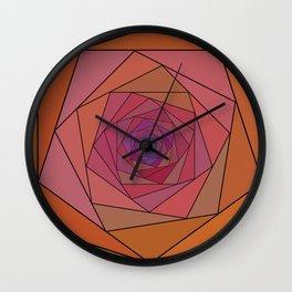 swirling pentagon 1 Wall Clock