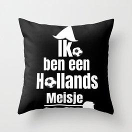 Ik Ben Een Hollands Meisje - Women's Football Fan Throw Pillow