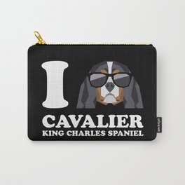 I Love Cavalier King Charles Spaniel modern v2 Carry-All Pouch
