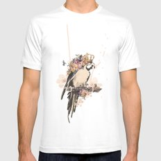 Pearly Parrot  White MEDIUM Mens Fitted Tee