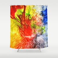 medusa Shower Curtains featuring Medusa by SOPHIA