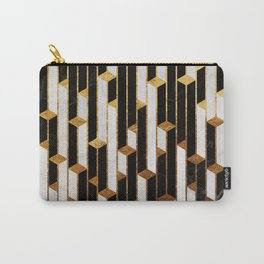 Marble skyscrapers - black, white and gold Carry-All Pouch