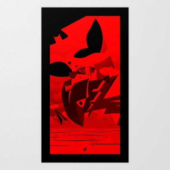 Knight Over Gotham Art Print