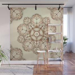 Beige elegant ornament fretwork Baroque style Wall Mural