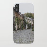 edinburgh iPhone & iPod Cases featuring Edinburgh street by RMK Creative