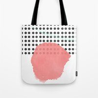 polka dot Tote Bags featuring polka dot by Ceren Aksu Dikenci