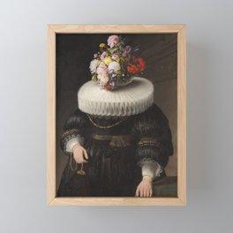 Flower Head Dutch Portrait Framed Mini Art Print