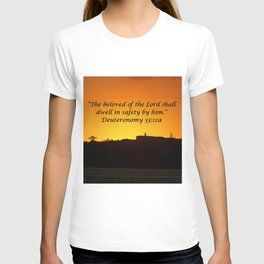 Christian Artwork: The beloved of the Lord shall dwell in safety by Him, God, Love, NZ T-shirt