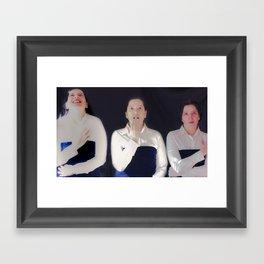 Tres Framed Art Print