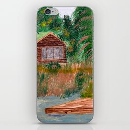 Cabin on Palmer Lake, British Columbia iPhone Skin
