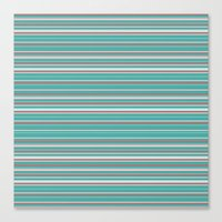 striped Canvas Prints featuring Striped by Marika's Artworks