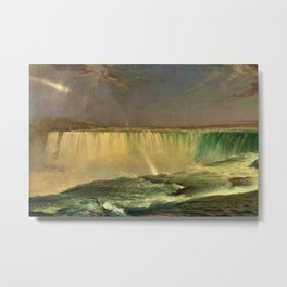 Niagara Falls Portrait by Frederic Edwin Church Metal Print