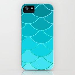Sky Blue Scales iPhone Case