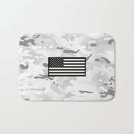 Arctic Camouflage: Black Flag Bath Mat