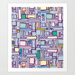 Pastel Block Art Print