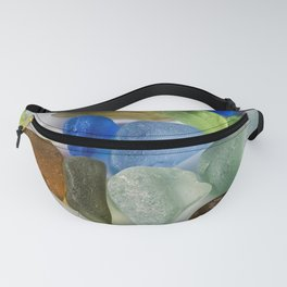 Colorful New England Beach Glass Fanny Pack